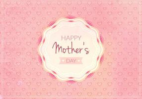 Kostenlose Vektor Happy Moms Day Illustration