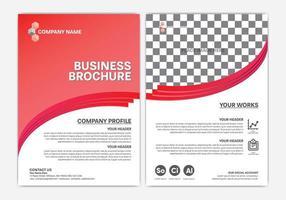 rote Geschäftsbroschüre oder Geschäftsberichtgestaltung vektor