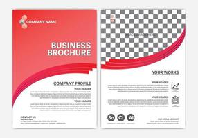röd affärsbroschyr eller årsrapportdesign vektor