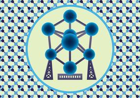 Atomium vektorkunst