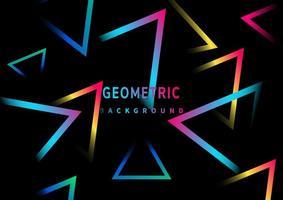 abstraktes einfaches Neonlicht-Dreieckslinienmuster vektor