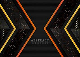 geometrische überlappende Schichten des abstrakten Dreiecks vektor