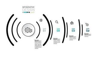 Infografik 4 Optionen zum Konzept des sozialen Signals