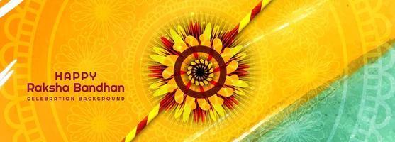 dekorerad rakhi för raksha bandhan akvarell banner vektor