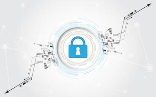 skyddat skydd cybersäkerhetsbegrepp vektor