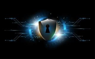 3D Tech geschütztes Schutzschloss Schild Sicherheitskonzept