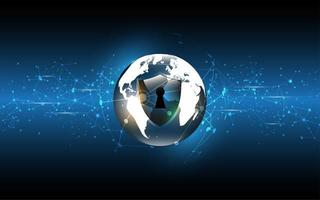 Globale Netzwerkverbindung World Map Tech-Konzept