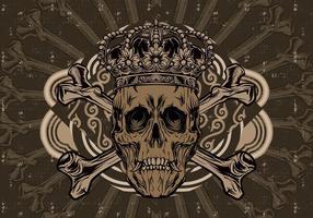 Krona skalle vektor