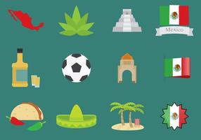 Mexiko Icons vektor