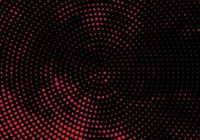 modern röd och svart cirkulär prickig bakgrund vektor