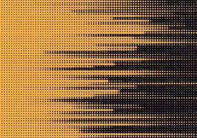 abstrakte gepunktete gelbe Linien auf Schwarz