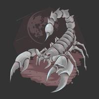 wilder Skorpion mit einem eisernen Körper vektor