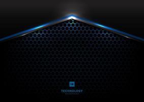 Technologie futuristisch schwarz und grau metallic vektor