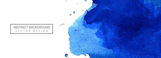 abstrakt blå akvarell stänk banner bakgrund vektor