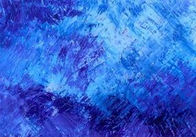 abstrakte blaue Farbe Pinselstrich Textur Hintergrund vektor