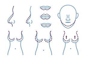 Plastische Chirurgie Icon vektor