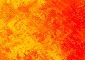 abstrakter roter, gelber Pinselstrich Texturhintergrund vektor