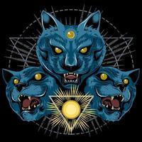 Panther mit drei Köpfen