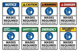 Masken, die über diesen Punktzeichensatz hinaus erforderlich sind vektor