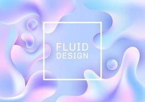 abstrakte 3d fließende Formen vektor
