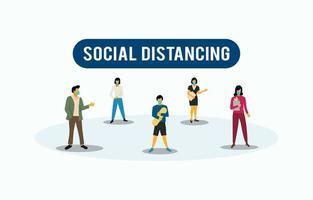 soziale Distanzierung zum Coronavirus vektor