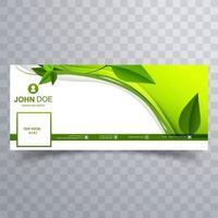 abstrakte grüne Blätter wellen Social Media Hintergrund vektor