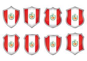 Peru flagga badge vektorer