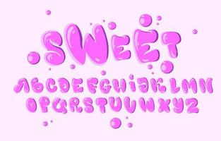 Typografie im rosa Blasenstil