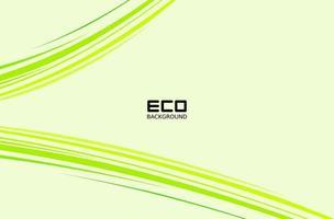 grön miljövänlig design med dynamiska linjer vektor