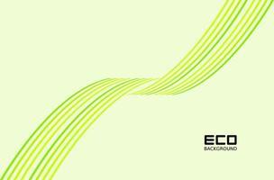 grünes umweltfreundliches Design mit verdrehten Linienmustern vektor