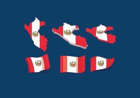 Peru-Flaggenvektor vektor