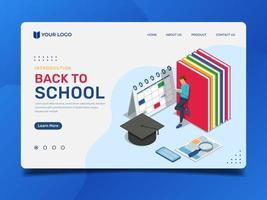 Zurück zur Schule Landing Page mit Schülerlesung