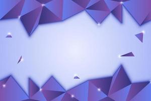 Niedriges Polygon-Design mit abstraktem lila Farbverlauf