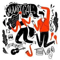 Paare tanzen beim Musikfestival vektor
