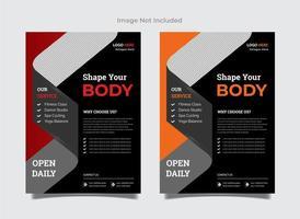 Gymnastik Flyer Vorlagen in zwei Farben vektor