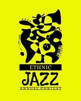 jährliches Wettbewerbsplakat der ethnischen Jazzmusik