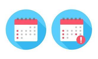 kalenderikonuppsättning vektor