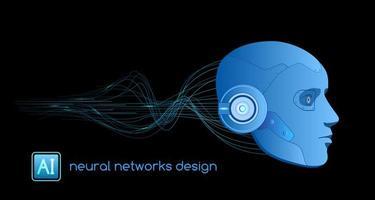 neurala nätverk konstgjord intelligens koncept vektor