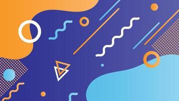 geometrischer blauer und gelber Retro formt Hintergrund