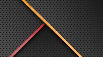 abstrakter moderner überlappender metallischer schwarzer Hintergrund vektor