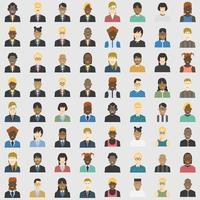 affärsmän avatarer uppsättning