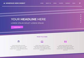 Gratis hemsida Hero Webkit 3