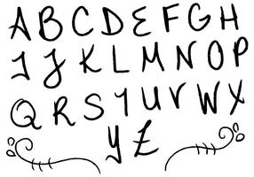 Letras bokstäver alfabetet set f vektor