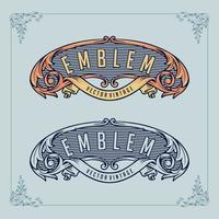 emblem monogram set