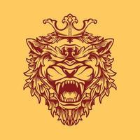 rött krönad lejon