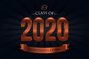 Klasse 2020 Bronze Schriftzug vektor