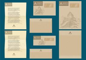 Rustik brev och kuvertmallar vektor