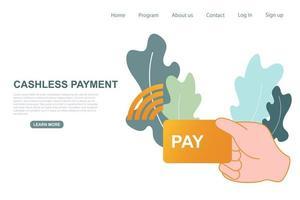 kontaktlös, kontantlös betalning