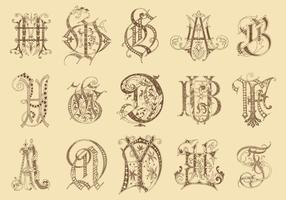 Forntida Monograms vektor