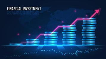 Konzeptdesign für finanzielles Wachstum vektor